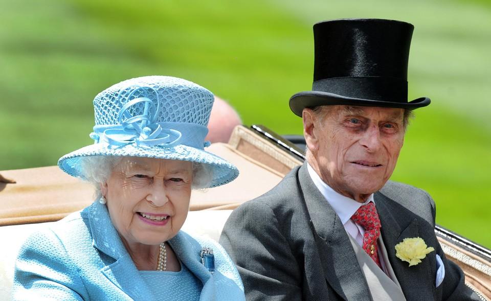 Koningin Elizabeth II en haar echtgenoot prins Philip