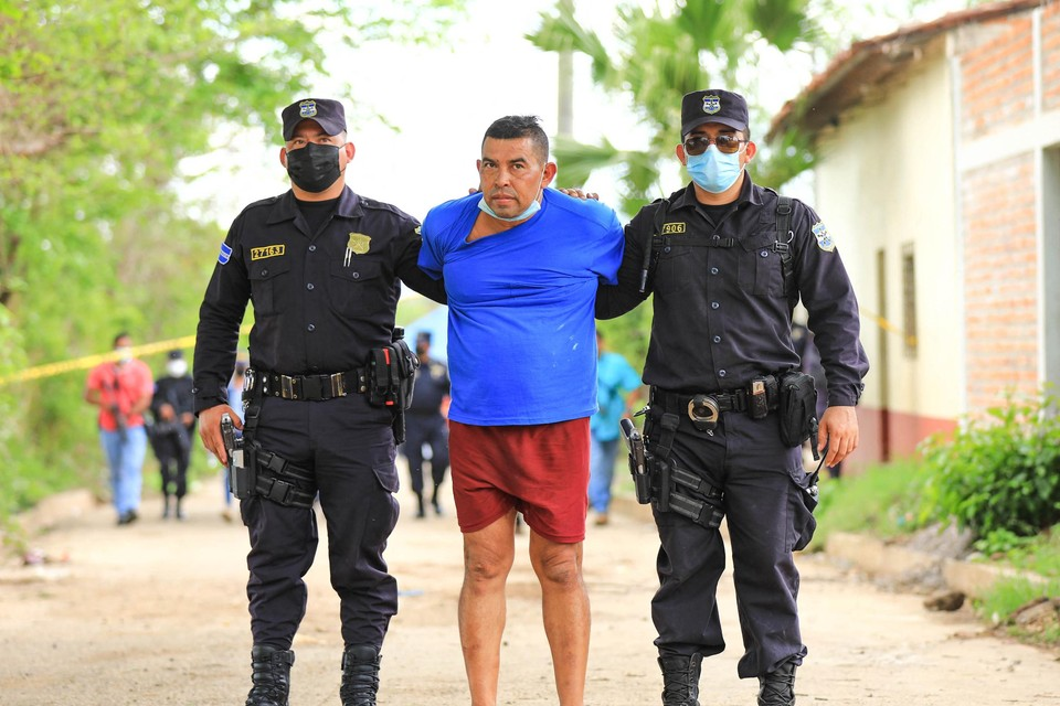 Hugo Ernesto Osorio net na zijn arrestatie.