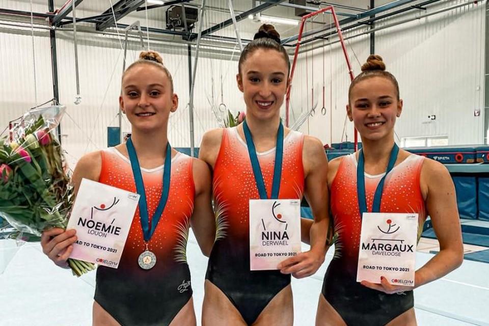 Nina Derwael wint voor Noémie Louon en Margaux Daveloose.
