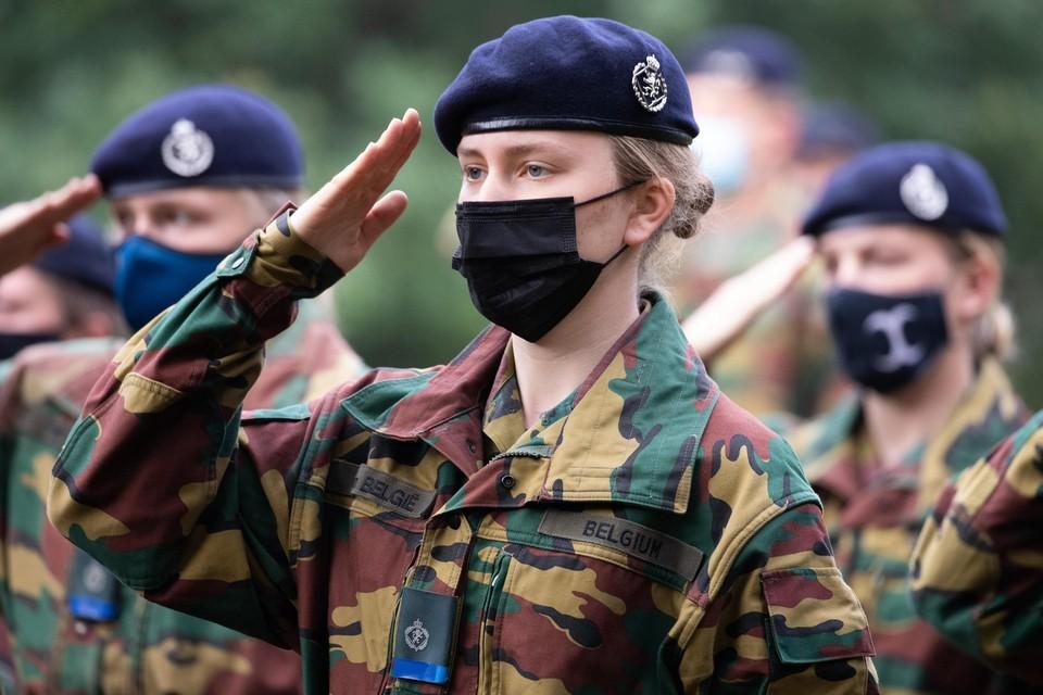 Prinses Elisabeth marcheert voor het eerst mee in het nationaal defilé.