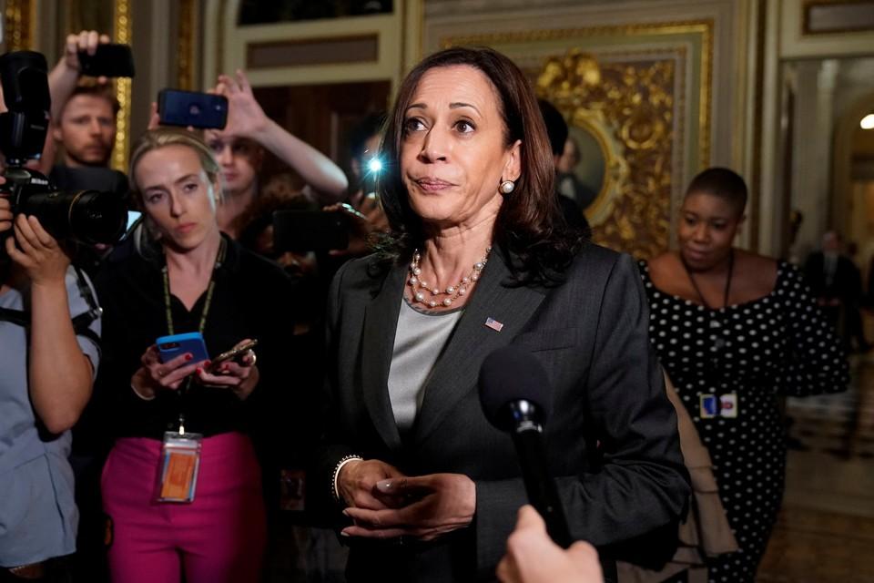 Kamala Harris reageerde teleurgesteld op de blokkering. De vicepresident werd door Biden aangesteld als verantwoordelijke voor de kieshervorming.