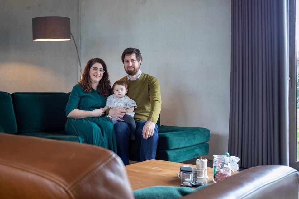 Femke, Pieterjan en dochter Marie uit Riemst.