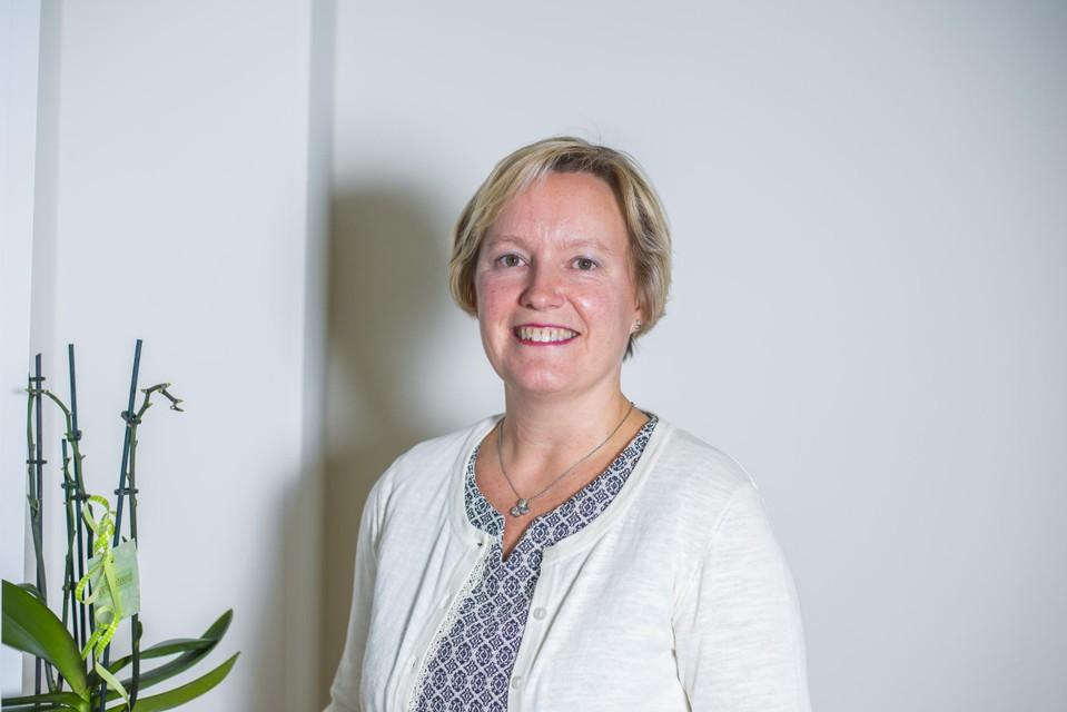 Burgemeester Ann Schrijvers van Zutendaal.