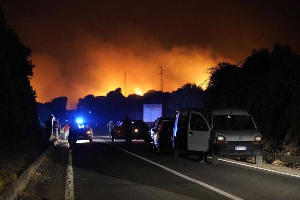 De vlammenzee op Sardinië.