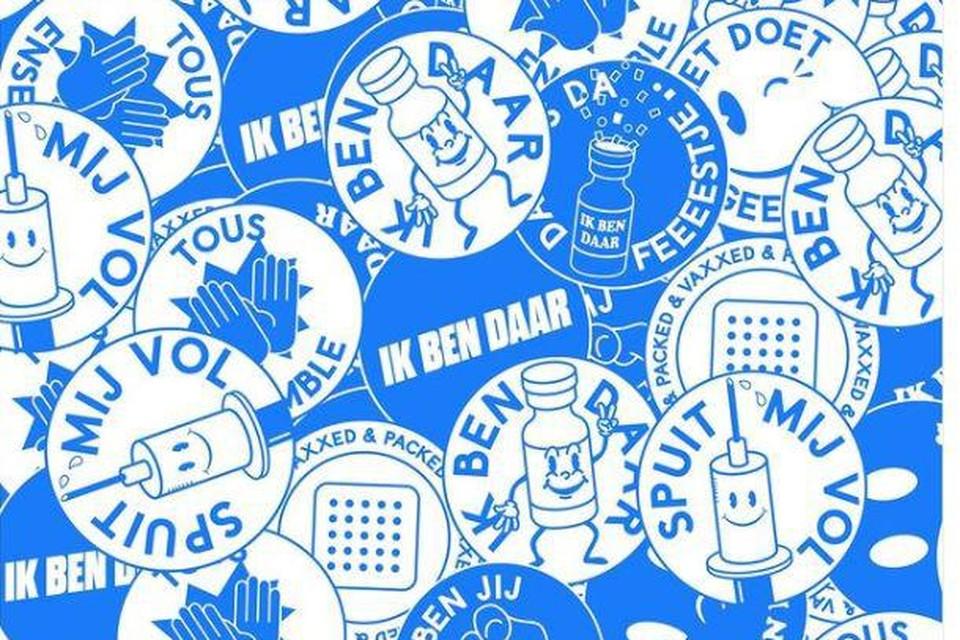 """""""Spuit mij vol"""", is één van de campagnestickers die Watwat gebruikt."""