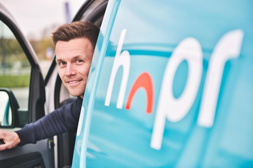 """""""De prijzen van onze producten zijn marktconform"""", zegt Stijn Martens (40), oprichter van de online supermarkt Hopr."""