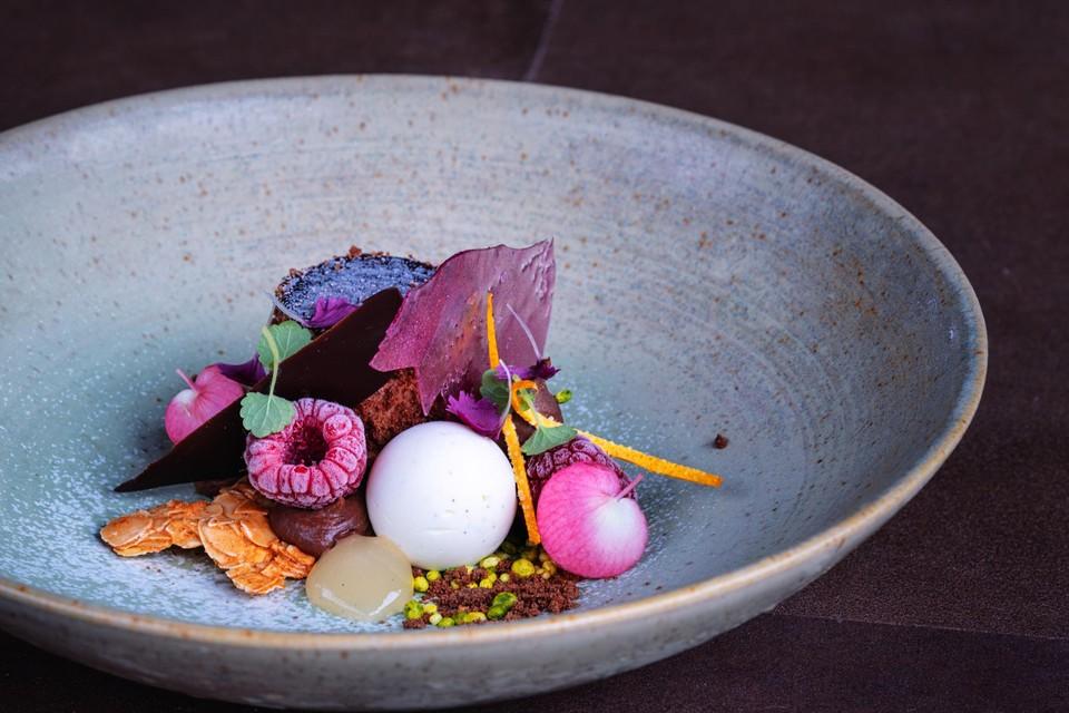 De afhaaltas van Ratatouille in Maaseik bevat onder meer dit smakelijke dessertje.