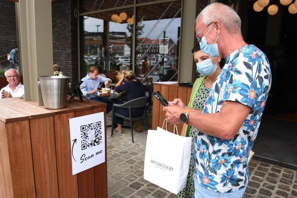 Digitaal registreren bij Maison Mathis in Hasselt.