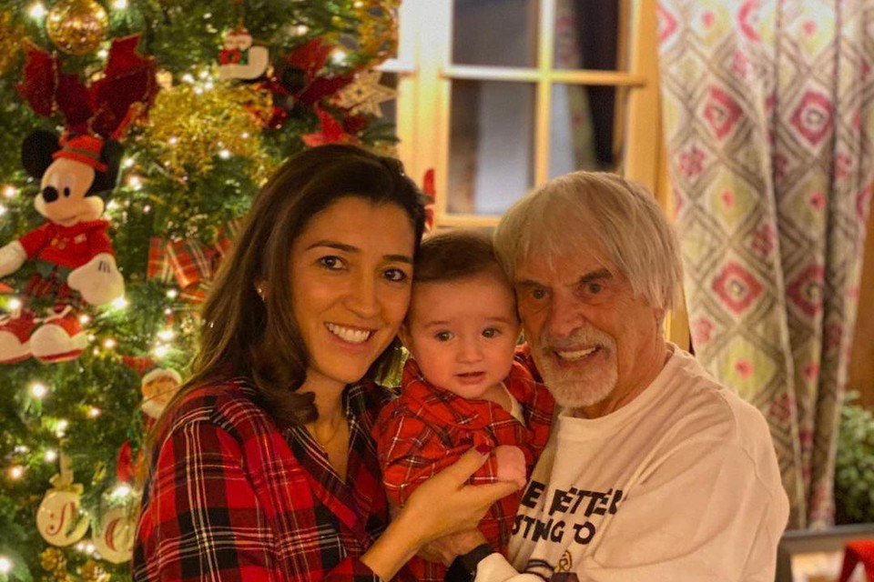 Echtgenote Fabiana, zoontje Ace en Bernie Ecclestone