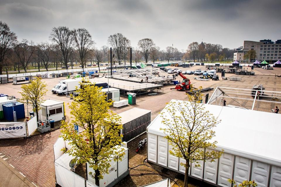 Het festivalterrein in Breda wordt afgebroken zonder dat het feestje plaatsvond.