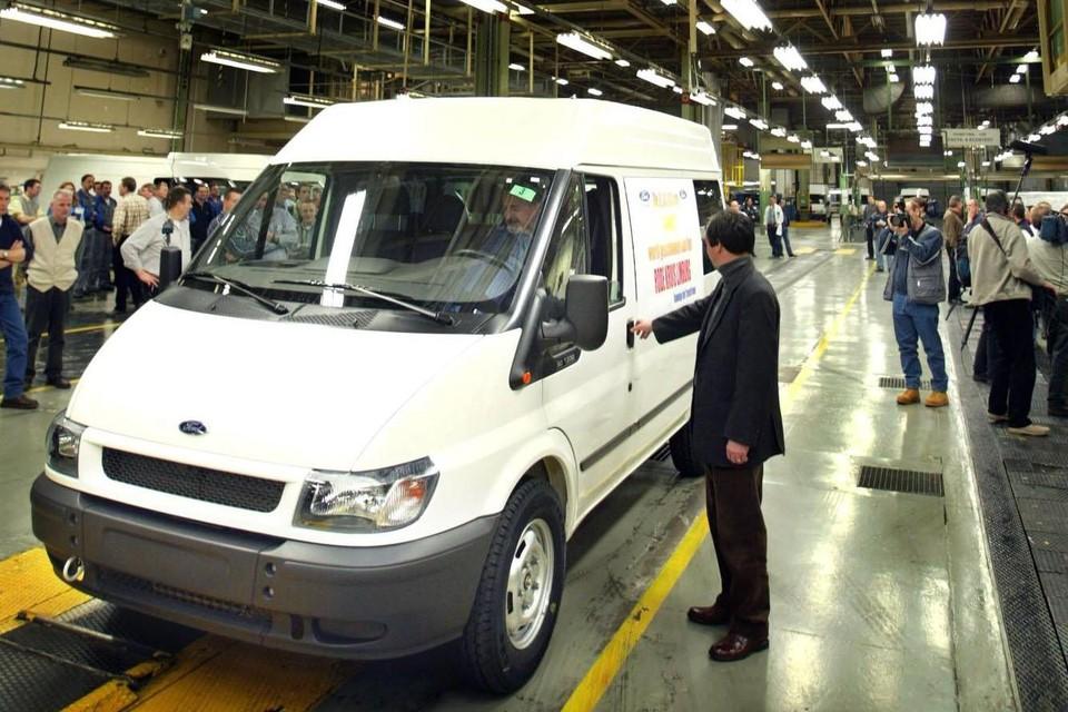 De Ford Transit, ooit nog in Genk gebouwd, is momenteel de meest populaire bestelwagen.
