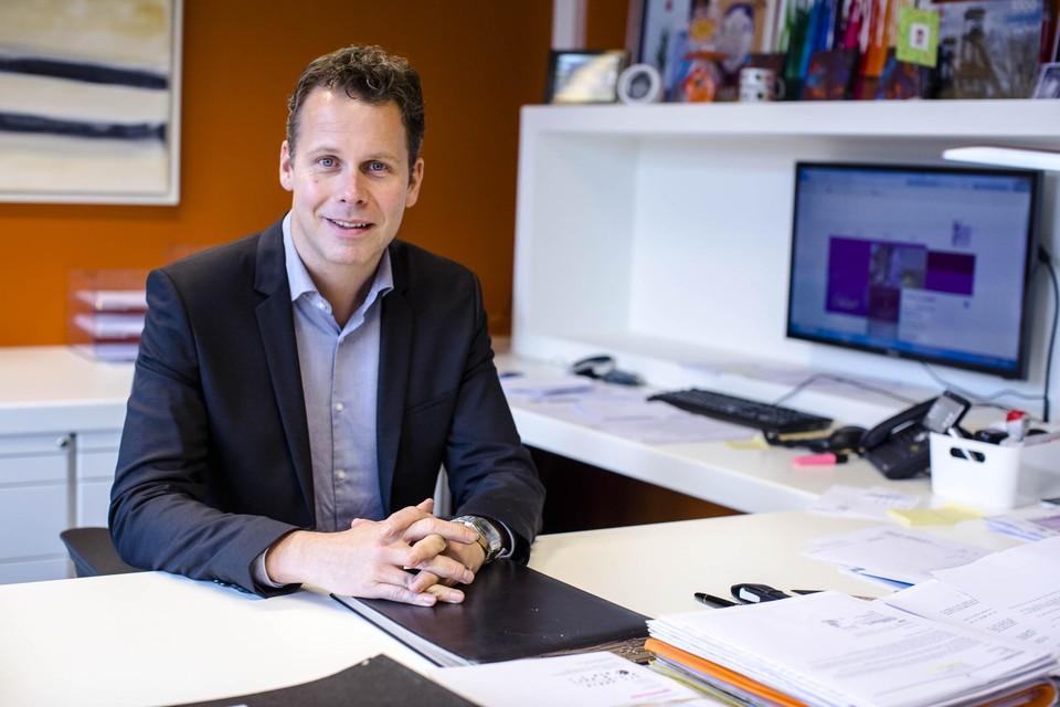 Burgemeester Raf Terwingen.