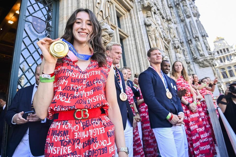 Afgelopen vrijdag werden de olympiërs gelauwerd op de Grote Markt in Brussel.