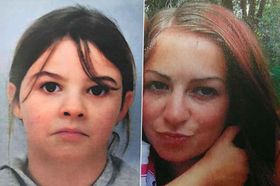 Mia Montemaggi (links) werd vermoedelijk ontvoerd in opdracht van haar moeder (rechts).