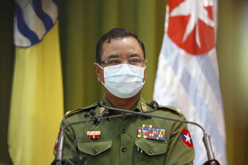 Legerwoordvoerder generaal-majoor Zaw Min Tun